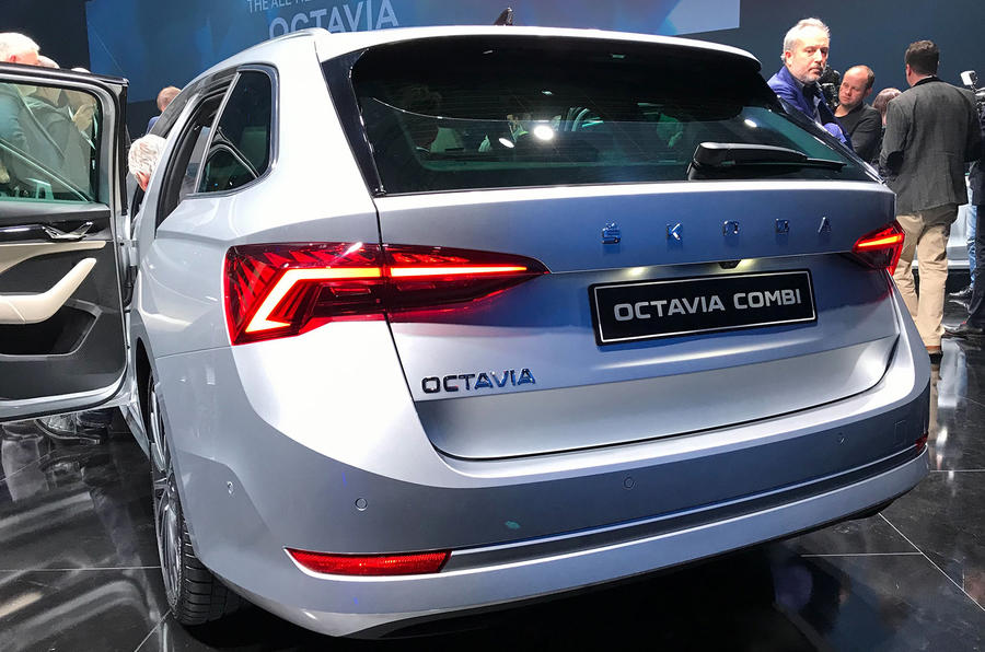 Skoda Octavia 2020 estate official launch - rear boot