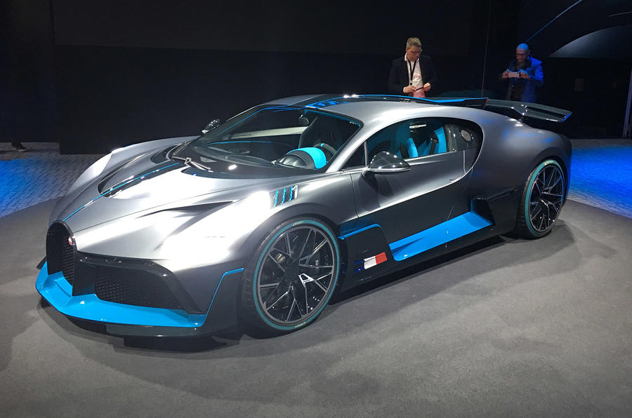 Bugatti Divo European motor show debut Paris 2018
