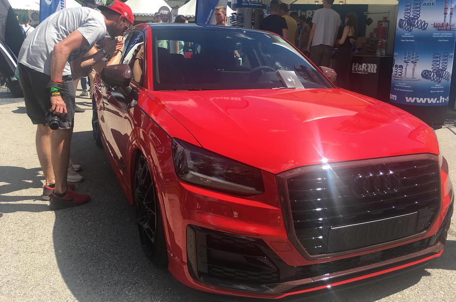 Audi Q2 slammed Worthersee