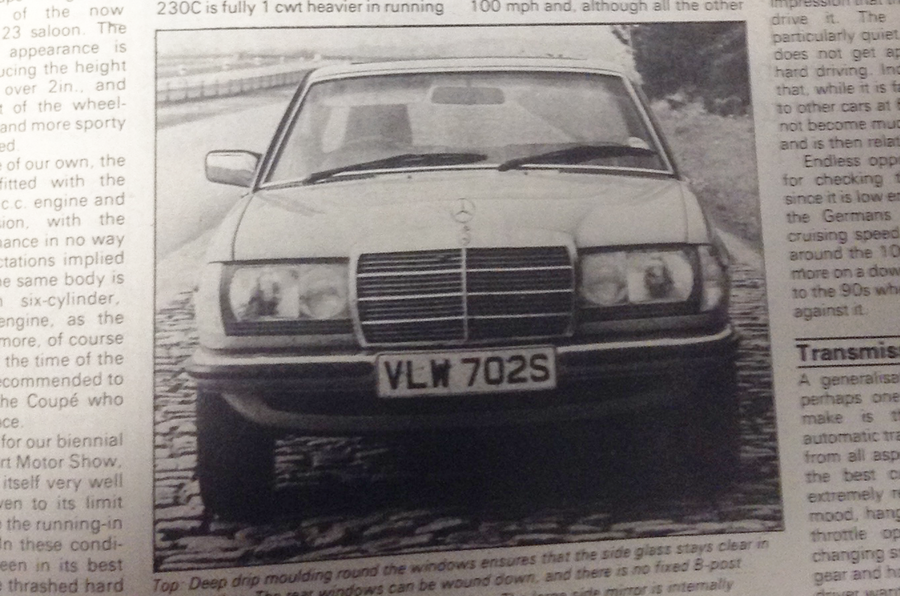 1977 Mercedes-Benz 230C front view