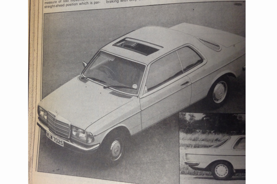 1977 Mercedes-Benz 230C top-down front three-quarters view