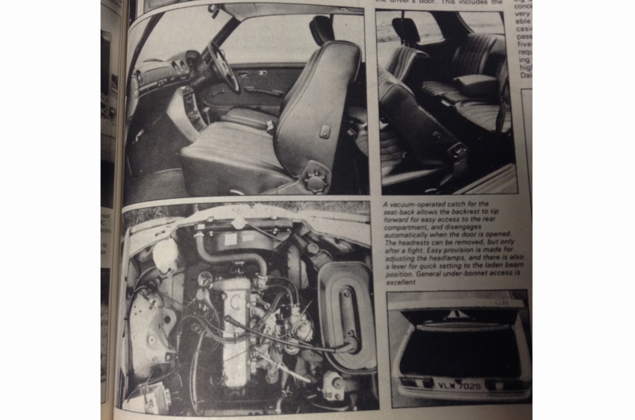 1977 Mercedes-Benz 230C interior features collage