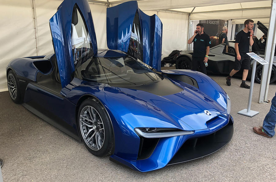 Nio EP9 Goodwood Festival of Speed paddock