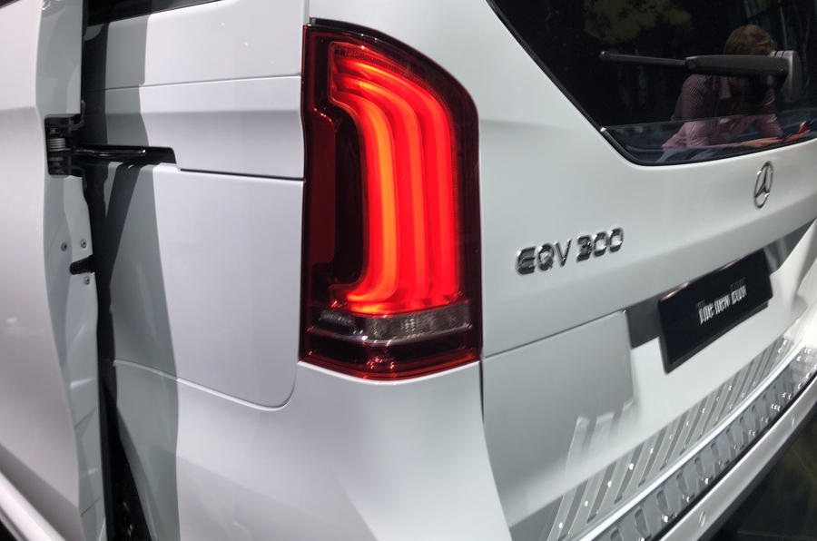 Mercedes-Benz EQV official reveal - rear light