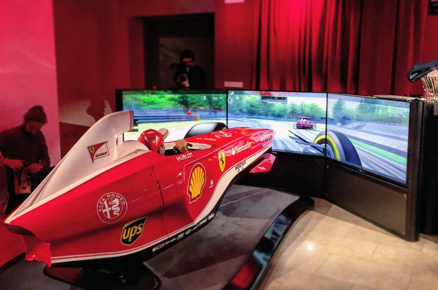 The F1 simulator at Ferrari World is surprisingly realistic