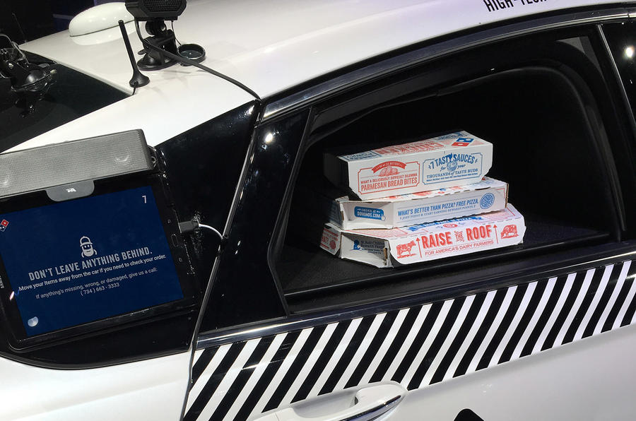 Ford pizza autonomous car
