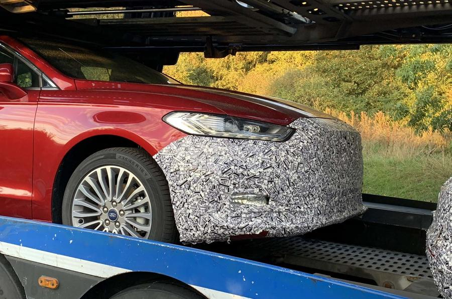 2019 Ford Mondeo Facelift Spotted In The Uk Autocar