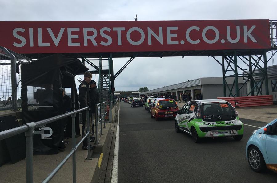 Citroen C1 racing at Silverstone