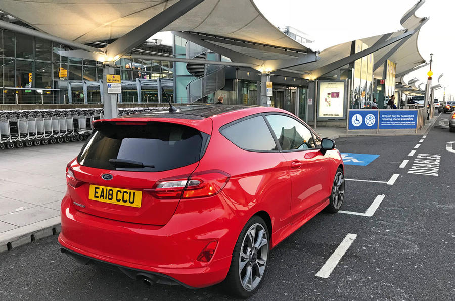 Fiesta ST Line at airport