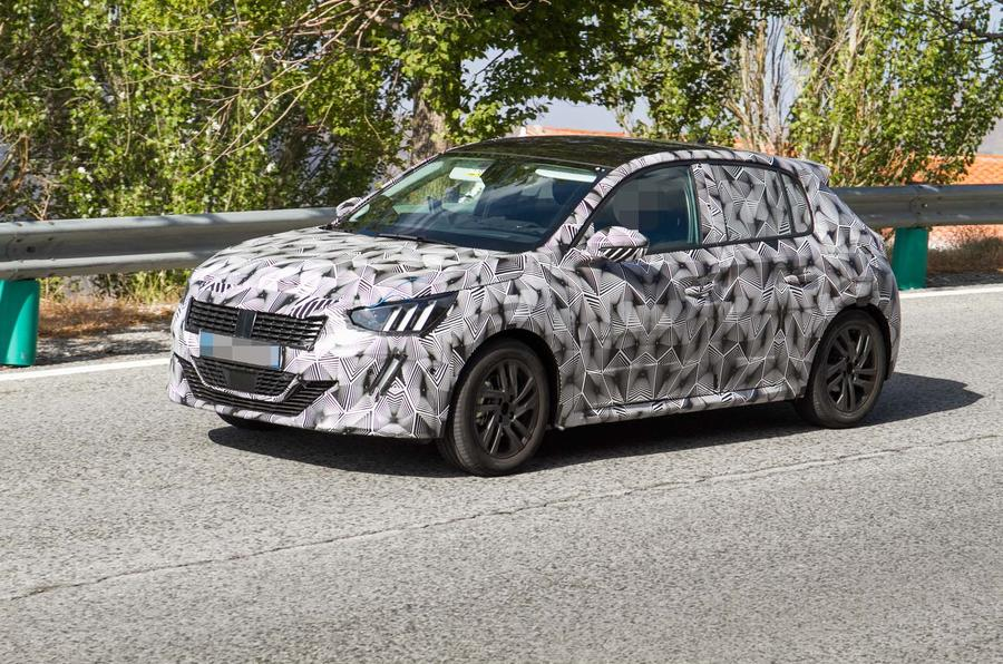 New Peugeot 208 spied with production body for 2019 | Autocar