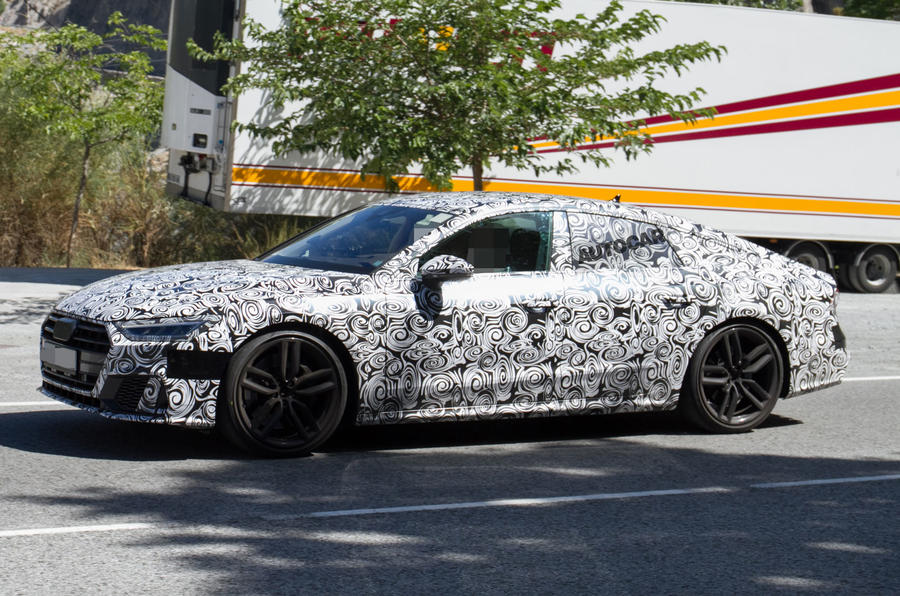 2017 Audi A7 Sportback – 450bhp S7 variant spotted testing