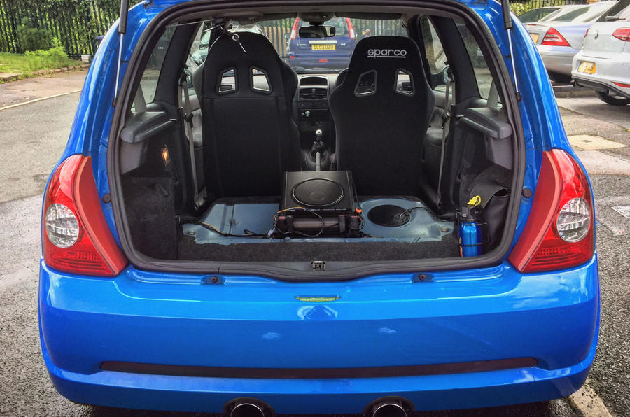 life with a used renaultsport clio 182 new pics of stripped interior autocar. Black Bedroom Furniture Sets. Home Design Ideas