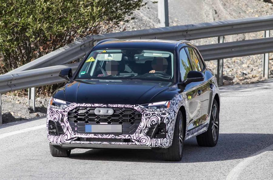 new audi q5  updated suv caught ahead of 2020 release