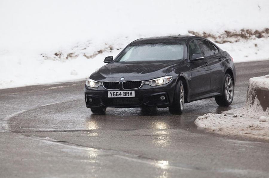 BMW 435d xDrive cornering