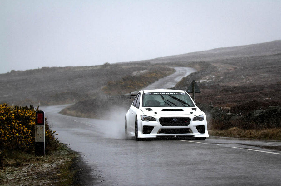 Subaru WRX STI Prodrive Isle of Man TT car