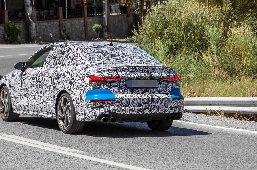 Audi S3 saloon rear shot