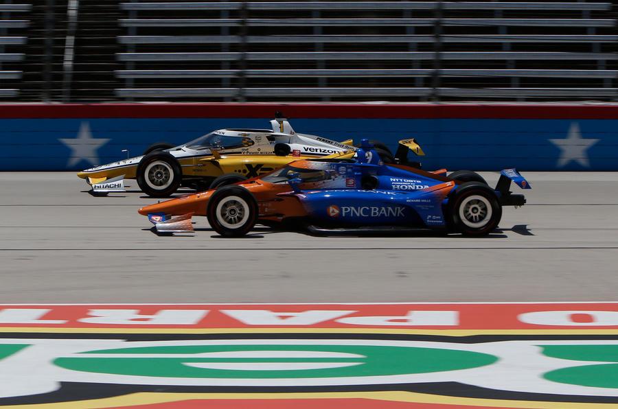 Indycar Texas Scott Dixon overtake