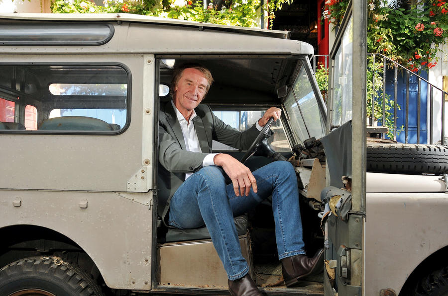 Ineos CEO Jim Ratcliffe in a Land Rover Defender