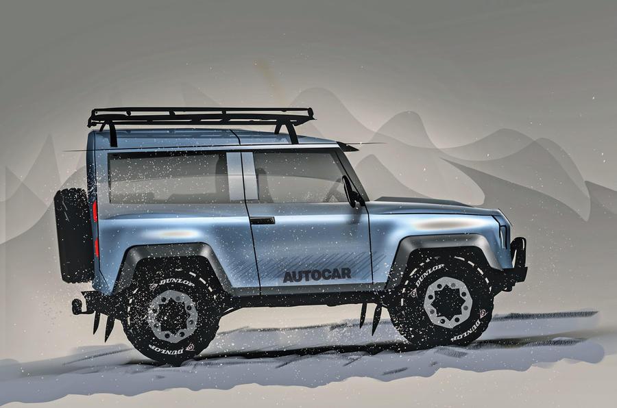Autocar render of Projekt Grenadier 4x4