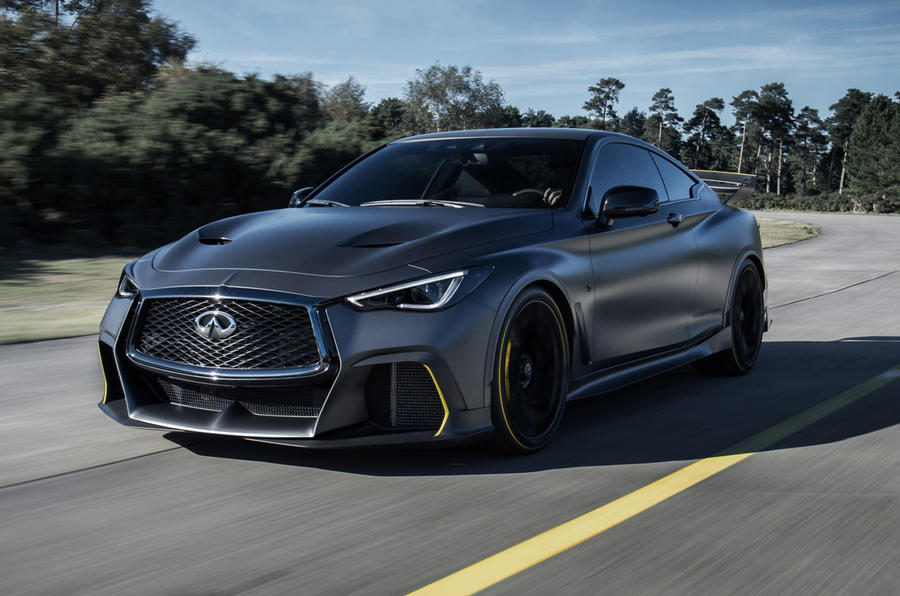 Infiniti Project Black S Paris motor show reveal hero front