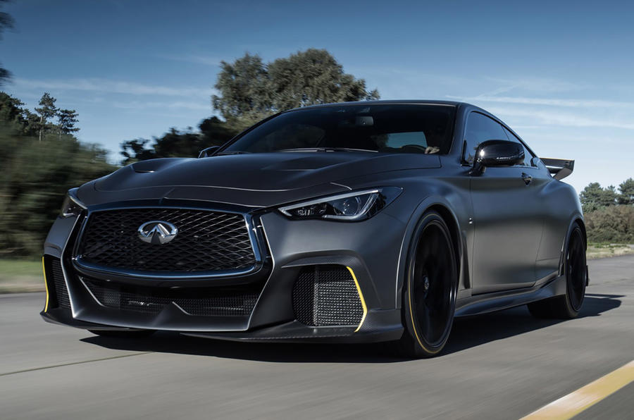 Infiniti Project Black S Paris motor show reveal on the road