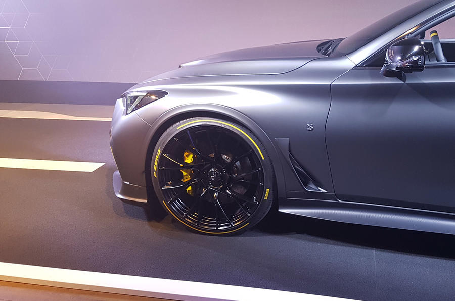Infiniti Project Black S Paris Motor show reveal Pirelli tyres