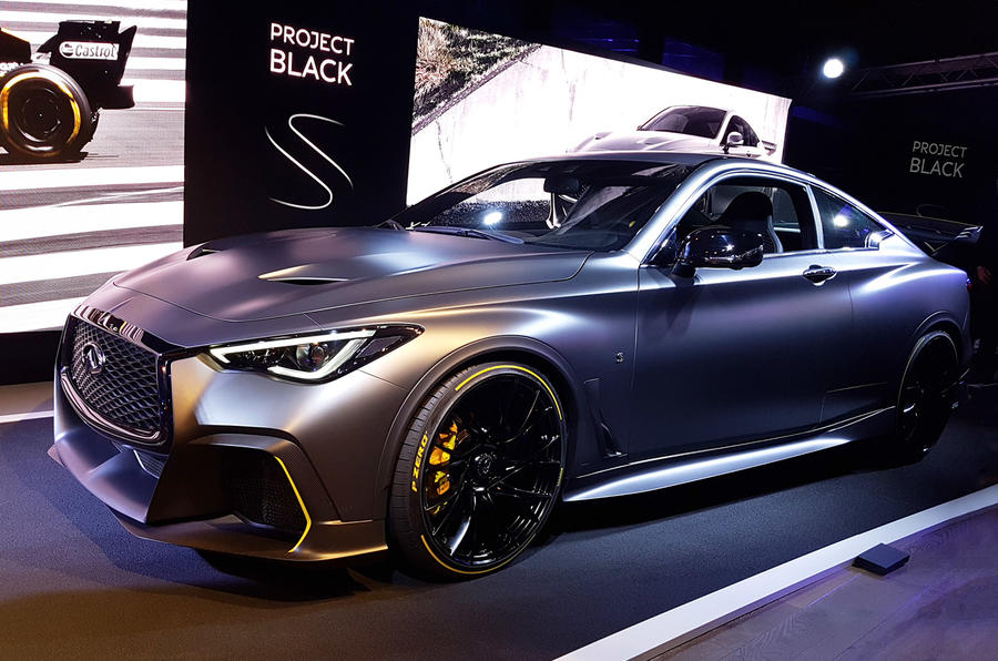 Infiniti Q60 Black S Performance Hybrid Unveiled At Paris