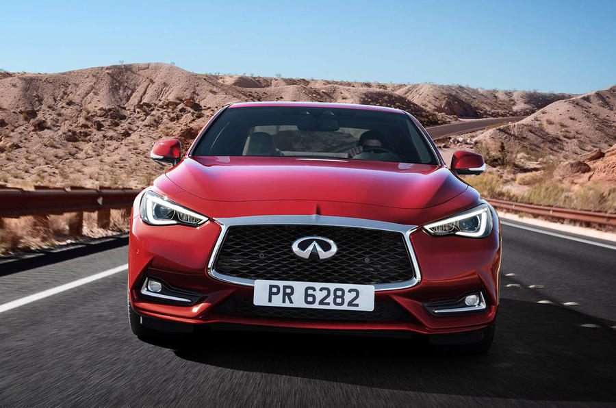Infiniti Q60 S 3.0T Sport Tech on the road front