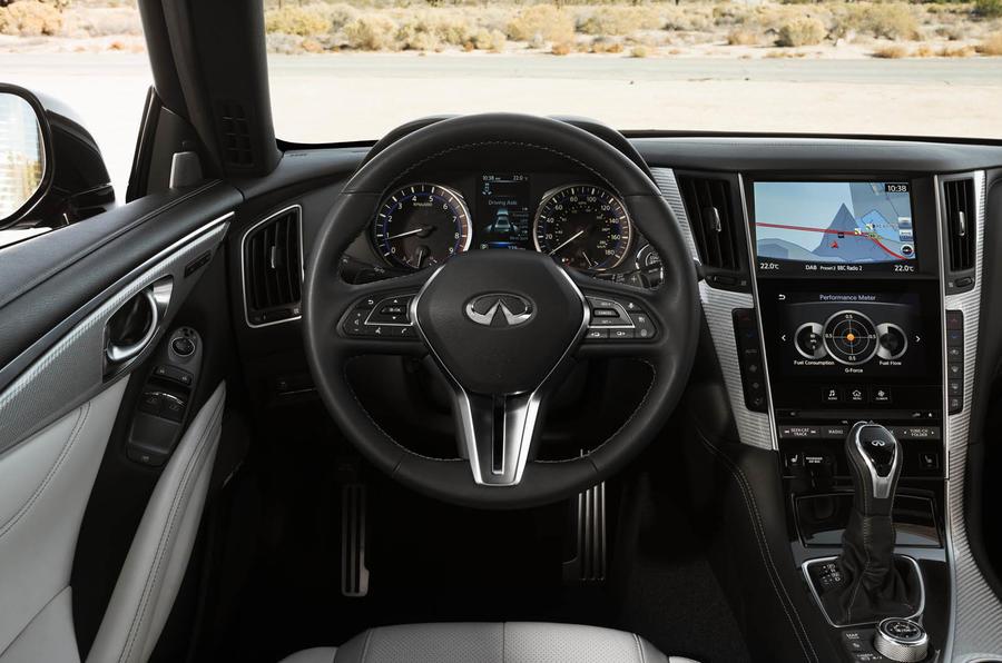 Infiniti Q60 S 3.0T Sport Tech steering wheel