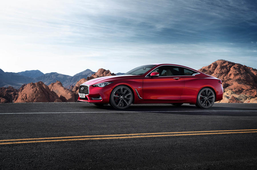 Infiniti Q60 S 3.0T Sport Tech on the road side