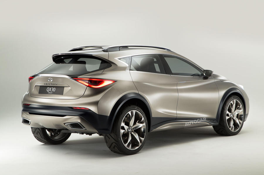 infiniti qx30 crossover spy shots studio pictures and first details autocar. Black Bedroom Furniture Sets. Home Design Ideas