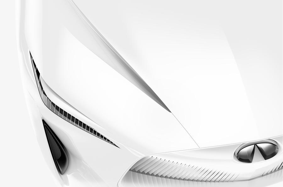 Electric Infiniti concept vehicle teases new design language