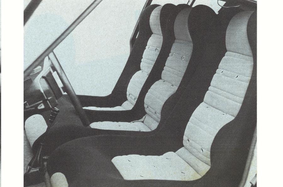 1974 Matra-Simca Bagheera seats