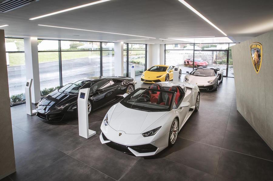 Lamborghini showroom in Bristol