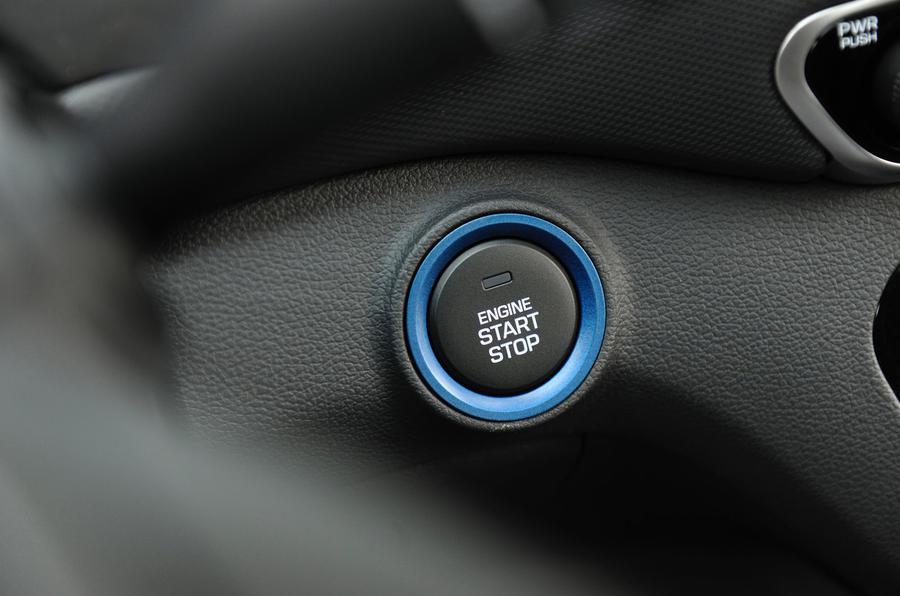 Hyundai Ioniq HEV ignition button