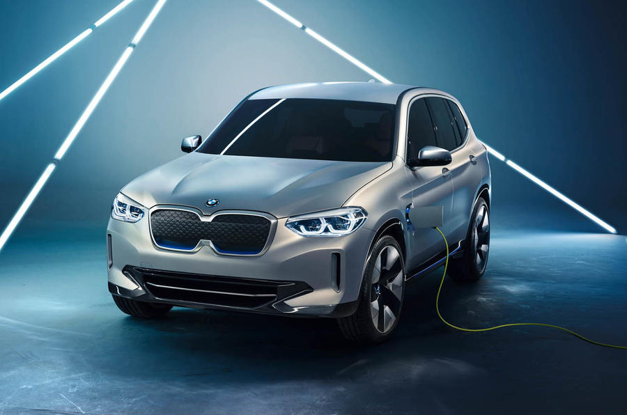 Car Shows In Ny BMW Concept IX3 Previews Future Jaguar I Pace Rival