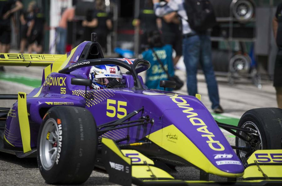 Jamie Chadwick races in W Series