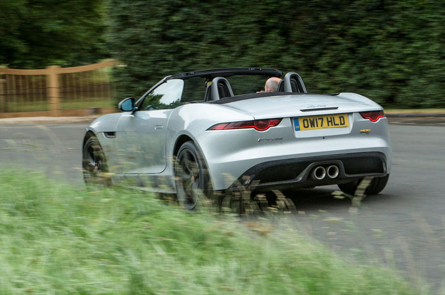 Jaguar F-Type 400 Sport rear