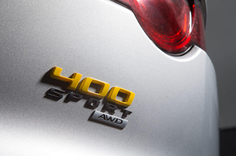 Jaguar F-Type 400 Sport badging