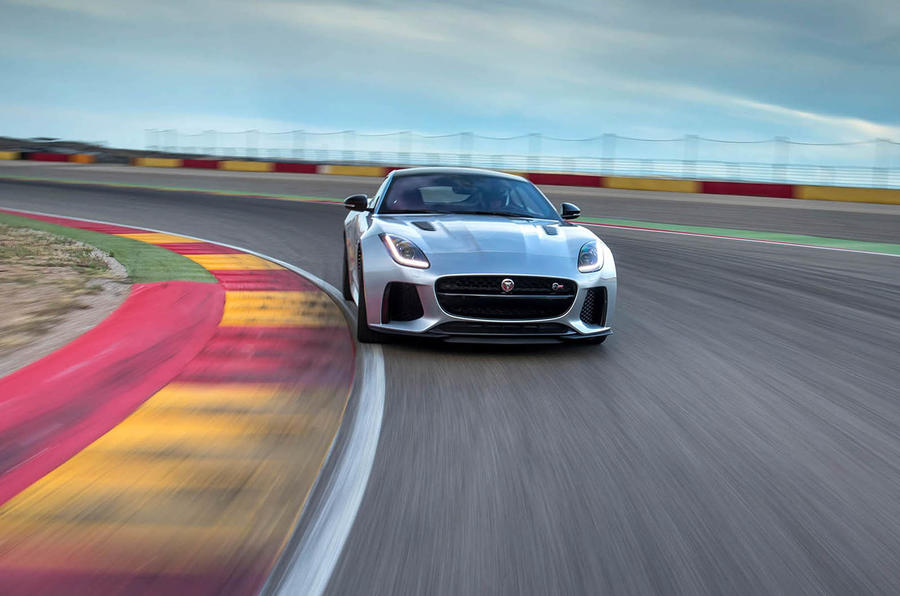 Jaguar F-Type SVR on track