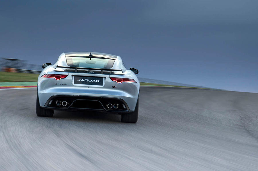 Jaguar F-Type SVR rear cornering