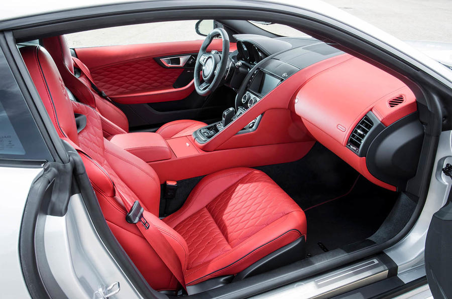 Jaguar f type red interior
