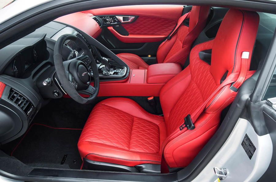 Jaguar F-Type SVR front seats