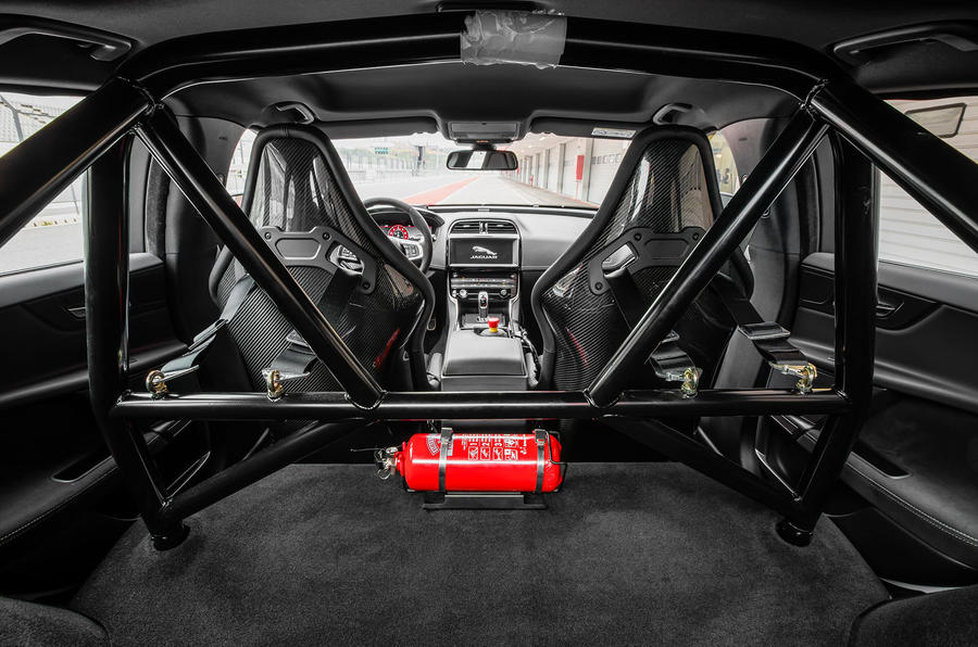 Jaguar XE SV Project 8 2018 review roll cage