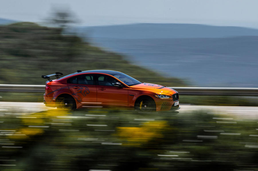 Jaguar XE SV Project 8 2018 review on the road right