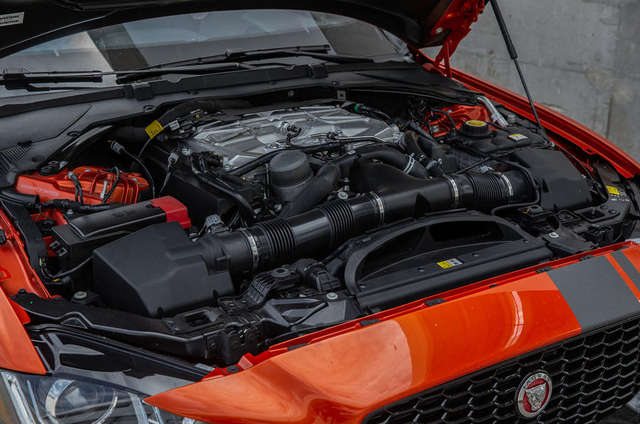 Jaguar XE SV Project 8 2018 review engine