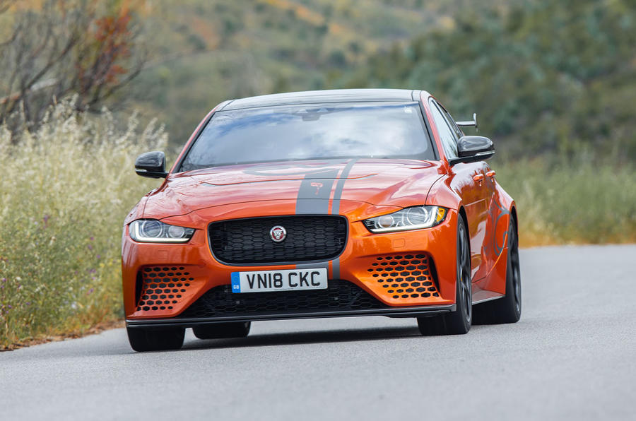 Jaguar XE SV Project 8 2018 review front view