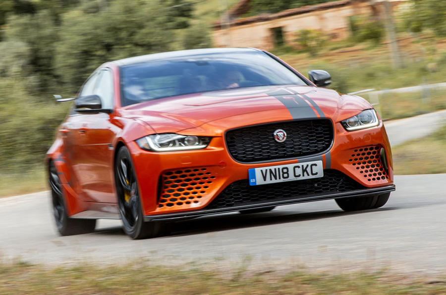 Jaguar XE SV Project 8 2018 review on the road front