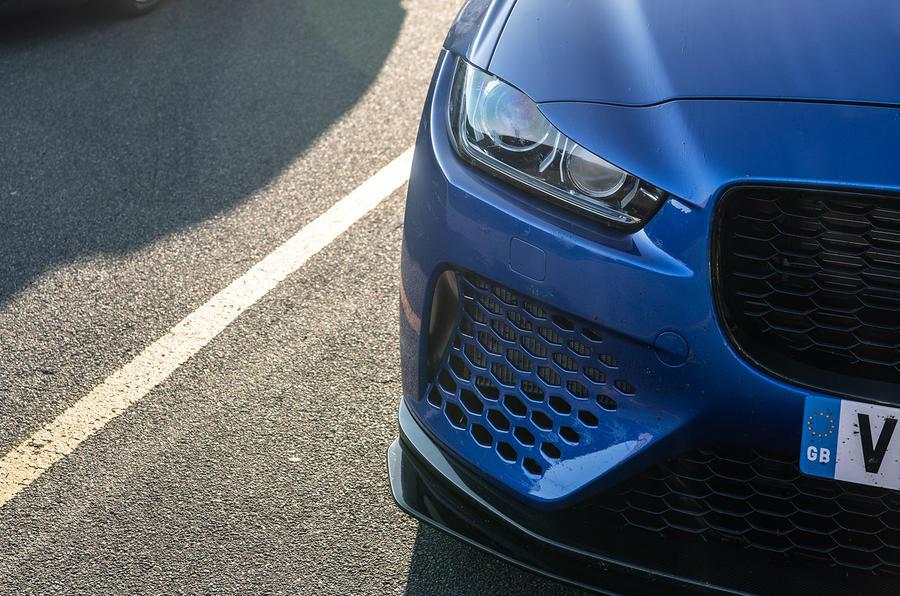 Jaguar XE SV Project 8 2018 UK first drive review - headlights