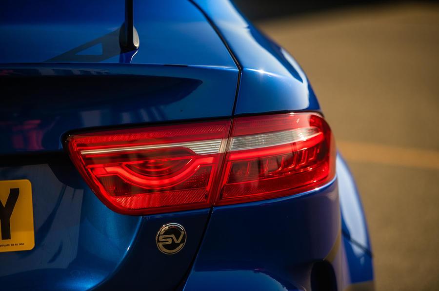 Jaguar XE SV Project 8 2018 UK first drive review - rear lights
